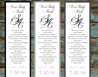 Monogam with Ampersand 100 Wedding personalized and printed Bookmarks Favor