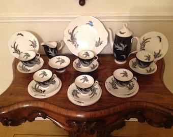 Royal Albert night and day 1950's tea set
