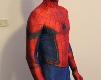 Replica Spiderman costume ' Homecoming ', printed on Lycra with 3d effect