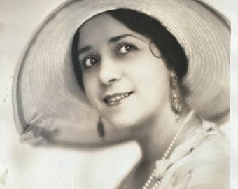 Vintage Apeda Photo Silent Film Vaudeville Actress