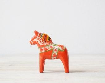Vintage Swedish Dala Horse, Red Dala Horse, Small Dala Horse, Dala Horse from Sweden