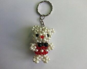 Teddy bear Keychain beads