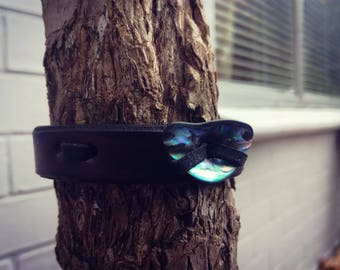 Deep blue - leather bracelet