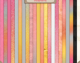 Digital Scrapbooking, Solids and Ombre Paper Pack: Forever And A Day