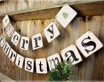 MERRY CHRISTMAS   Garland/ Bunting /Christmas Banner/Christmas Decoration holiday decorations, mantle decoration , Christmas Bunting/sign