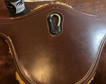 46 inch used belly guard girth with Girth Shield and sheepskin