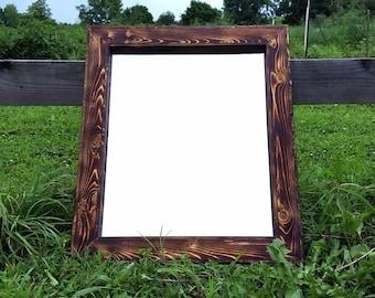Wood Mirror - Rustic Home Decor - Cabin