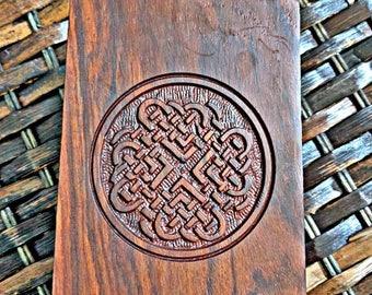 Tarot Card Box, Tarot Box, Keepsake Box, Celtic Knot Box, Wooden Box, Box for Tarot Cards, Celtic Knot Box, Wooden Keep Sake Box, Handcarved