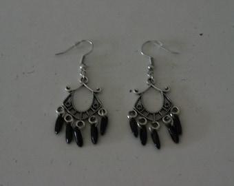Earrings in the boho style