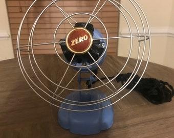 Vintage metal fan lamp