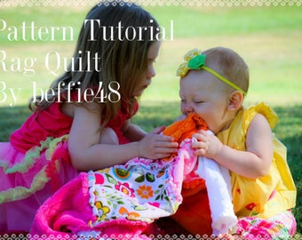 Easy to Make, Rag Quilt Tutorial, Easy Instructions with Photos, pdf Instant Download