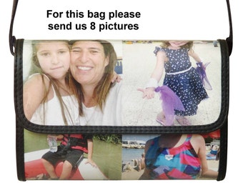 Personalized crossbody bag MEDIUM size with pictures from you - FREE SHIPPING - gift gifts for mom girlfriend custom customized bag handbags