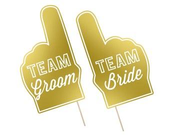 Printable Wedding Photo Booth Props . Team Groom/Bride . Wedding . Bachelor/Bachelorette . Bridal Shower . Gold . Instant Download