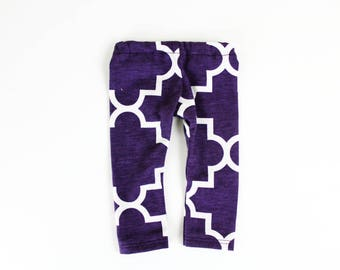 Fits like American Girl Doll Clothes - Quarterfoil Leggings in Acai Purple | 18 Inch Doll Clothes
