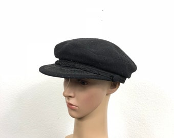 70's euro vintage wool fisherman hat made in greece size 7 3/8