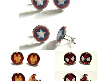 Comic Superhero Cufflinks- multi characters available
