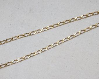 Vintage Gold Tone Chain Necklace 1980
