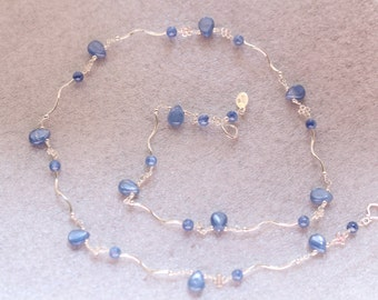 Kyanite Teardrop Necklace
