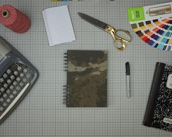 Dark Green Camouflage Sketchbook A5 portrait