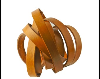 """Caramel Leather Strap, 10mm wide, Eco Friendly Leather Made in the USA, sold in 16"""" increments/Leather Straps, Leather Cord, Leather Jewelry"""