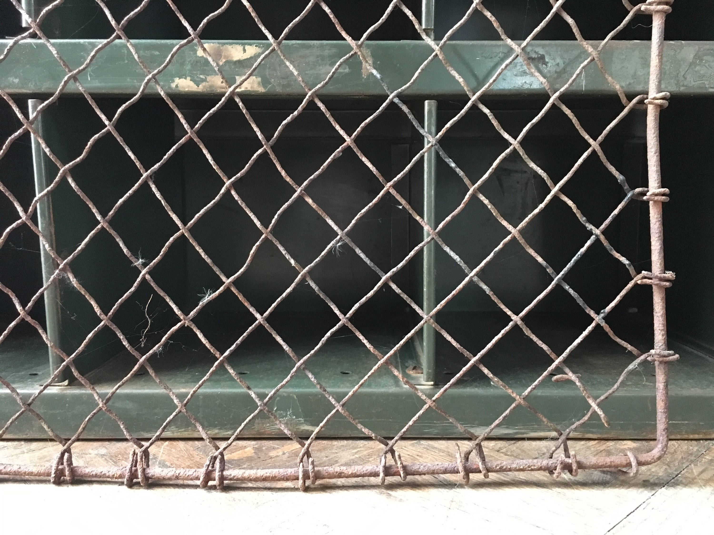Large Antique Metal Fence Panel Antique Rusty Iron Gate