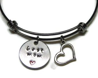 Best Mom Bangle;  Mother's Day Gift; Best Mom Bracelet; Mother's Bangle; Mother's Bracelet; Mother's Charm Bracelet; Mother's Charm Bangle