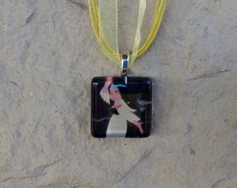 The Princess Collection Tiger Lily from Peter Pan Glass Pendant and Ribbon Necklace