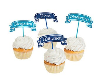 12/ Oktoberfest Picks / Food picks / cupcake picks