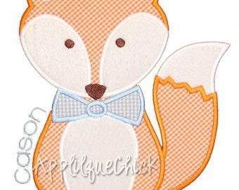 Fox Boy Applique Design