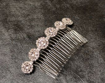 Hair Accessories, Rhinestone Comb, Bridal Comb