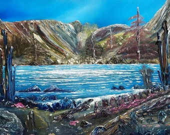 Springtime at Shaver Lake by Darrell Nickel of DNART CREATIONS Large Oil Painting  California's Sierra Nevada's Original