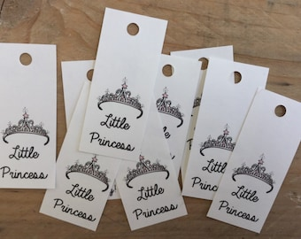 Babyshower Favor Tag, Little Princess, Princess Theme, Party Favor Tag, Paper Gift Tag, Newborn Baby Girl, Pink Baby Theme, Tiara Princess