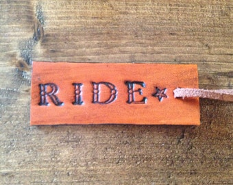 Ride Leather Tag