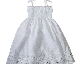 Broderie Girl Dress
