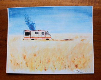 Breaking Bad RV Watercolor Print