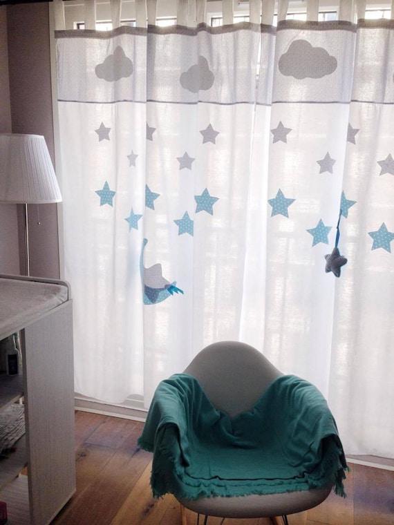 rideaux chambre bébé enfant 100% coton fait main