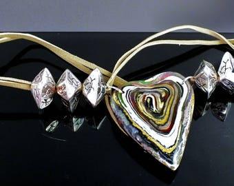Heart shapes and irregular patterns