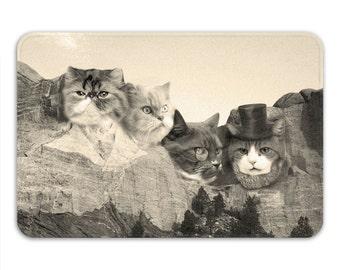 Meowmore Memory Foam Bath Mat, Funny Cat Bathroom Rug - Printed in USA