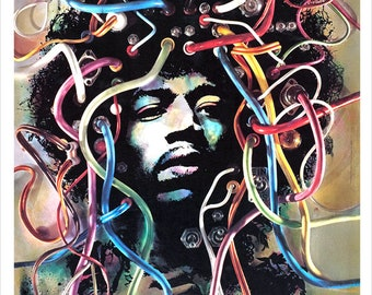 Jimi Hendrix Concert poster - Gunther Kieser Psychedelic poster print - 60s psychedelic art design - Jimi Hendrix fan gift