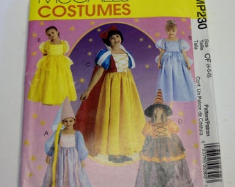 McCall's MP230: Children's and Girls' Storybook Costumes Sizes 4,5,6 UNCUT