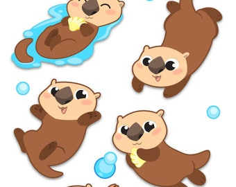 Sea Otter Sticker Sheet