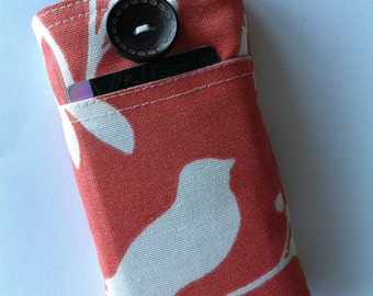 iPhone 7 Wallet - iPhone 7 Case - iPhone 6 Case - Coral Leaves Water Resistant