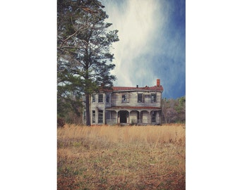 Southern Gothic Photo - Abandoned House Photography - Empty House Print - Old House - Ruin - Vertical - Digital Photo - Digital Download