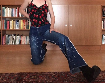 Zana-Di Frayed and Rhinestoned Jeans
