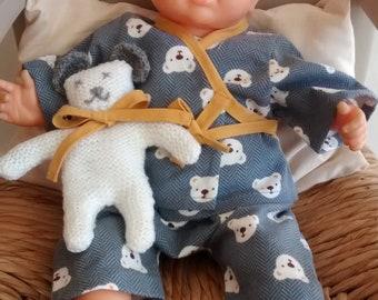 Kimono baby pyjamas 36 cm + free blanket