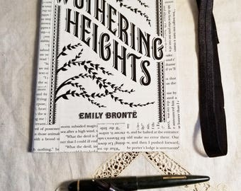 Wuthering Heights Journal, Book Page Journal, Bullet Journal, Emily Bronte, Blank Page Journal, Journaling, Book Nook, MarjorieMae