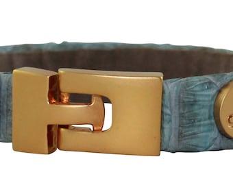 Python Bracelet, Python Cuff, BAJ 496 G Turquoise
