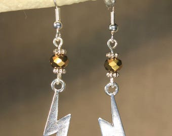 "Earrings ""lightning"" fantasy, witch, magic"