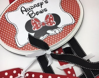 Minnie Red and White Polka Dot Bow Holder- Great Silbling add-on gift