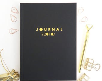 FURTHER REDUCED 2018 Diary, 2018 Planner, 2018 Journal, Calendar notebook, Stationery lover gift, Gift for men, Birthday gift for him